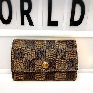 Louis Vuitton Damier Ebene 6 key holder case